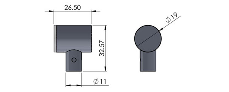 ufo 19m mirror fitting cad image