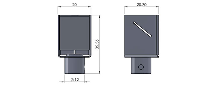 ufo 26m mirror fitting cad image