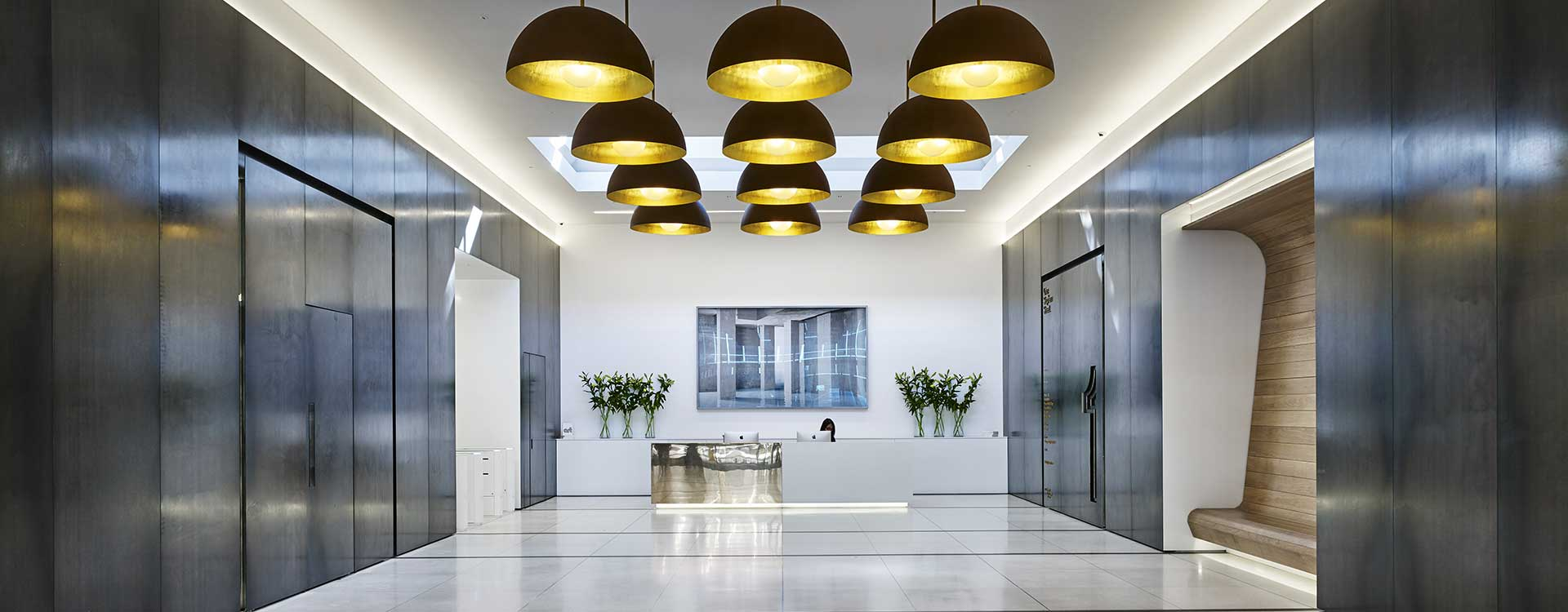 led lighting in central cross office complex