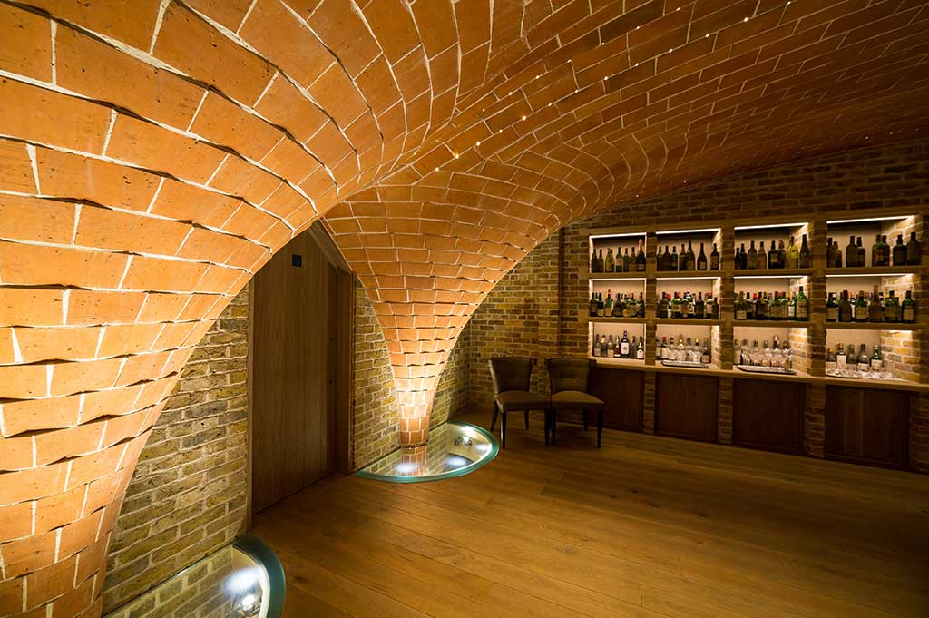fibre optic lighting in berry bros & rudd wine merchants