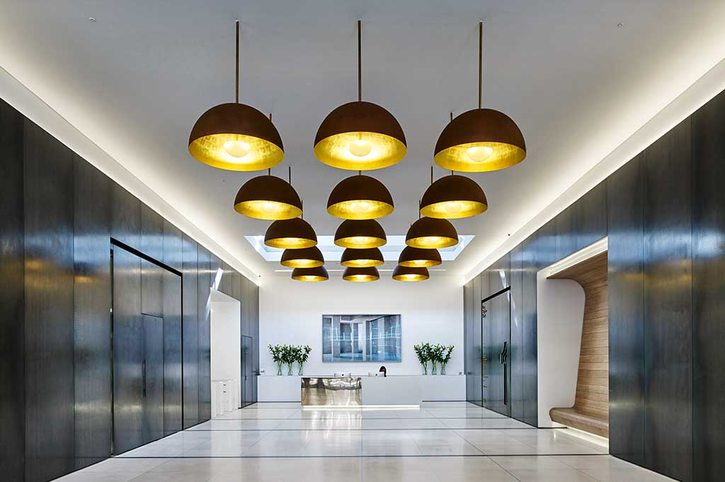 led lighting in central cross, london