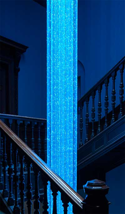 custom fibre optic chandelier design and manufacture