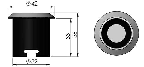 ld1 led fitting cad image