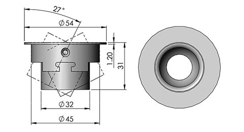 ld3 led fitting cad image