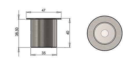 lp4 led fitting cad image