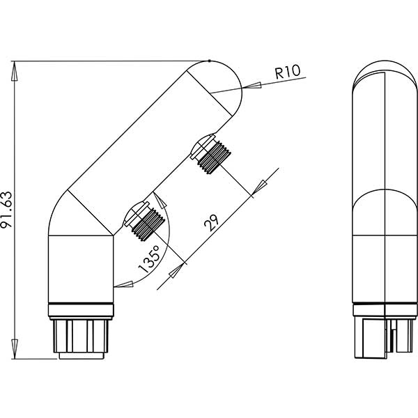 metroled elbow cad