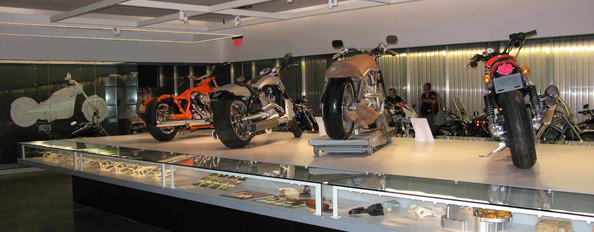 fibre optic lighting in the harley davidson museum