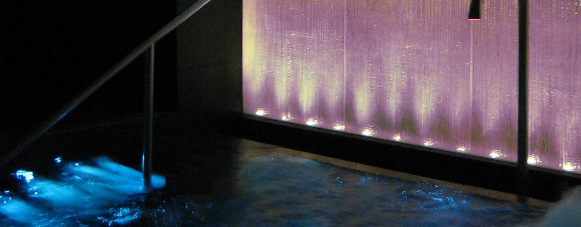 fibre optic lighting in gleneagles hotel spa