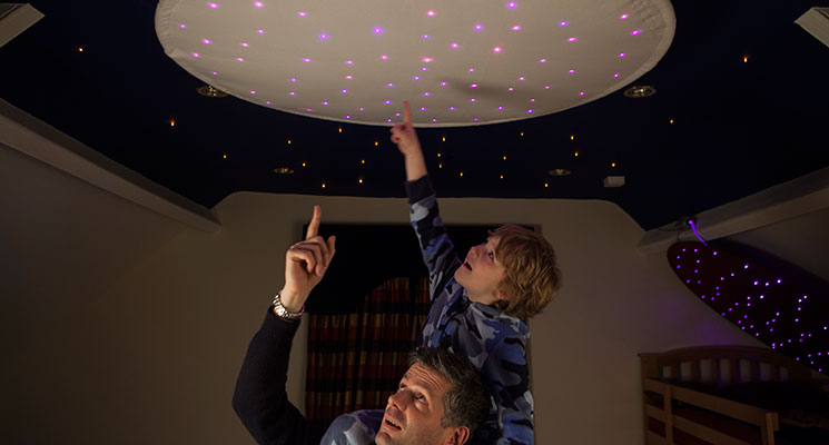 fibre optic star ceiling ring image 3
